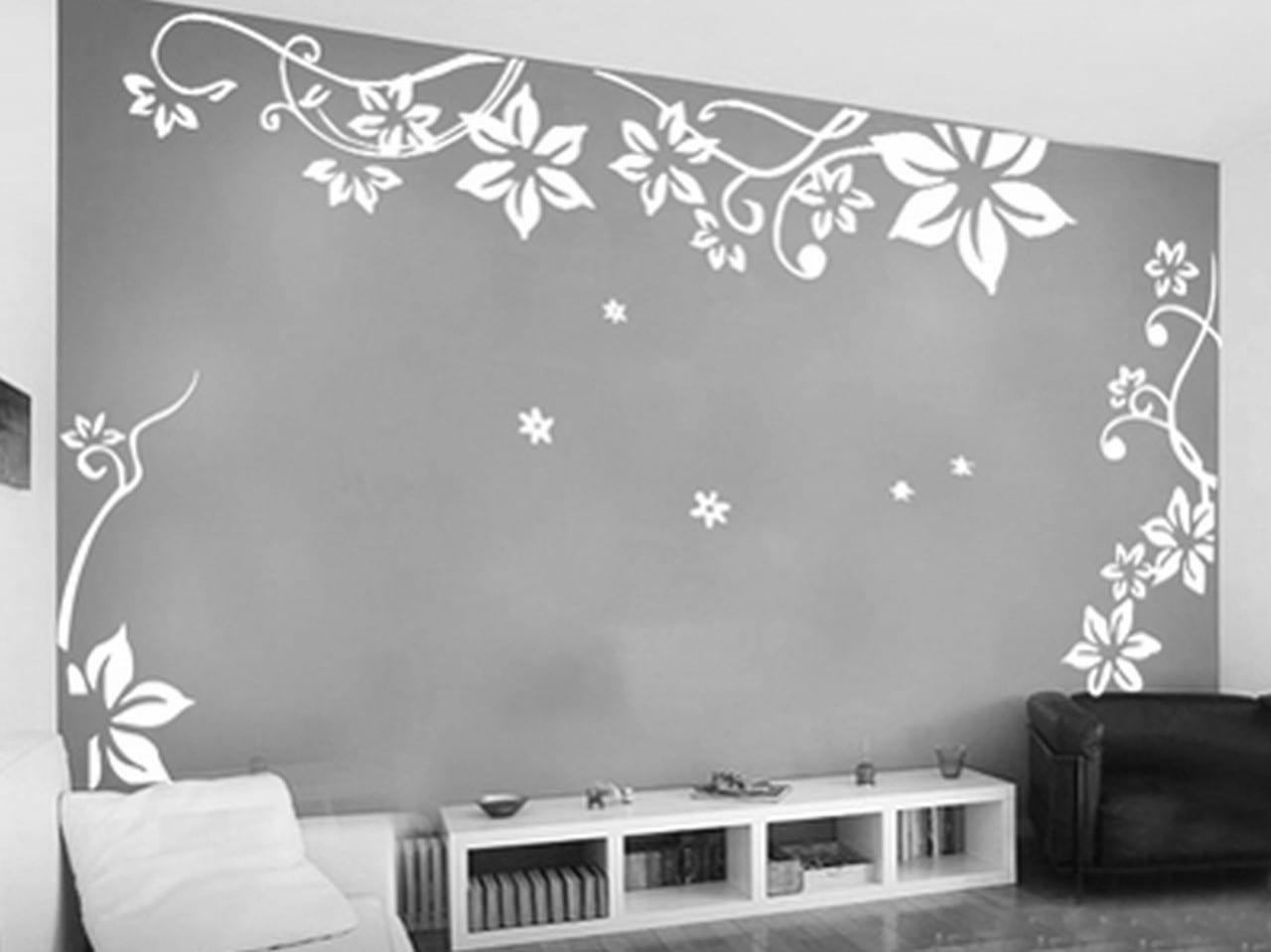 Wandtattoo Blumen In Weiss Freshouse