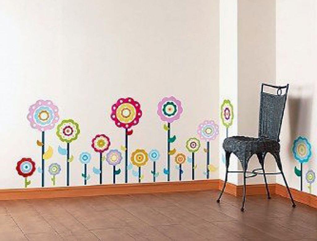 Wandtattoo Blumen Kinderzimmer Wanddeko Freshouse