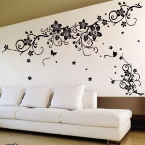 wandtattoo blumen wandtattoo wohnzimmer freshouse. Black Bedroom Furniture Sets. Home Design Ideas