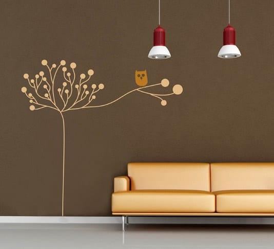 wandtattoo eule wandtattoo baum freshouse. Black Bedroom Furniture Sets. Home Design Ideas
