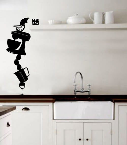 wandtattoo küche- lustige deko idee - fresHouse