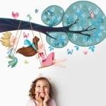 kinderzimmer gestaltung - farbige wandtattoos für kinderzimmer