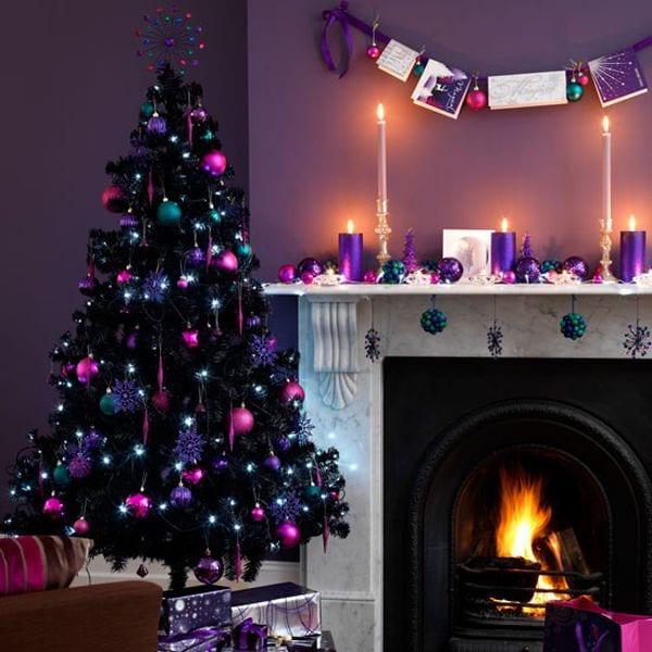 Weihnachtsbaum Schwarz.Weihnachtsbaum Schwarz Und Pink Freshouse