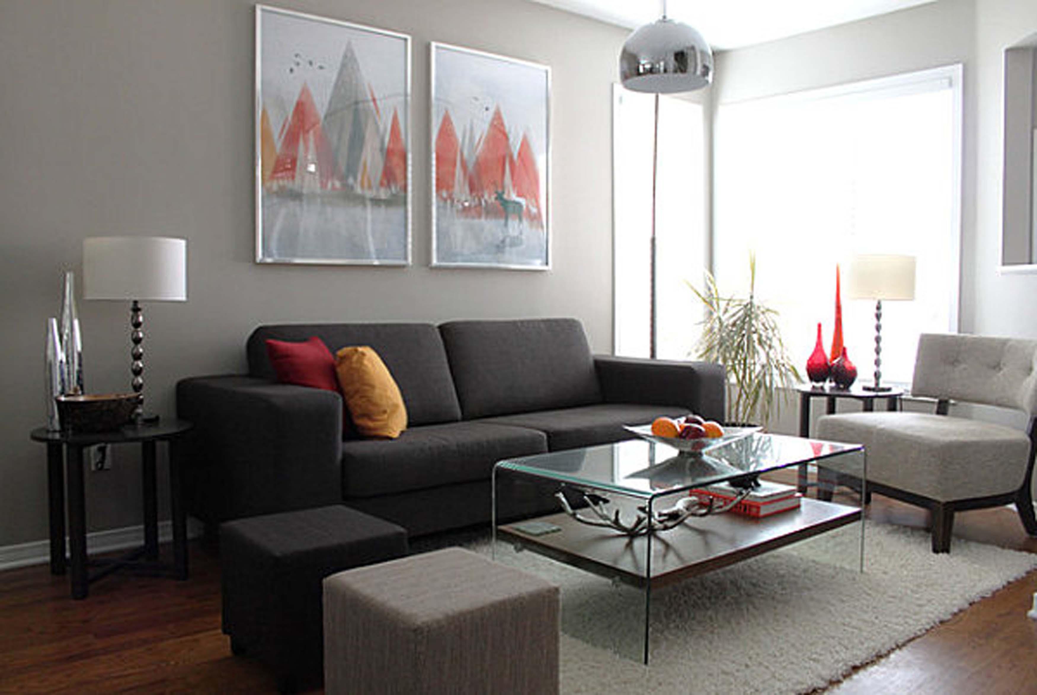 Fantastisch Wohnwand Grau  Wohnzimmer Grau