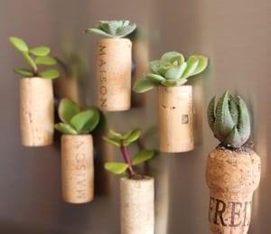 coole bastelideen mit korken- DIY planzenbehälter aus Korken