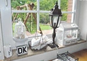 Fensterbank Küche dekorieren