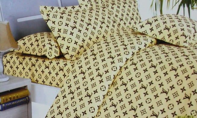 Louis Vuitton Bettwäsche Gelb