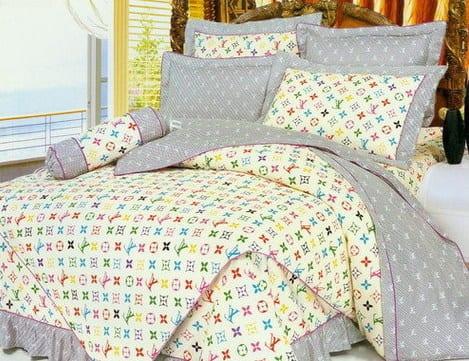 louis vuitton bettw sche gelb und grau freshouse. Black Bedroom Furniture Sets. Home Design Ideas