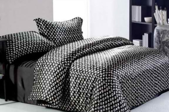 louis vuitton betw sche bettw sche schwarz freshouse. Black Bedroom Furniture Sets. Home Design Ideas