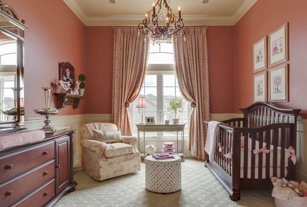Altrosa Wandfarbe Babyzimmer Gestalten Freshouse