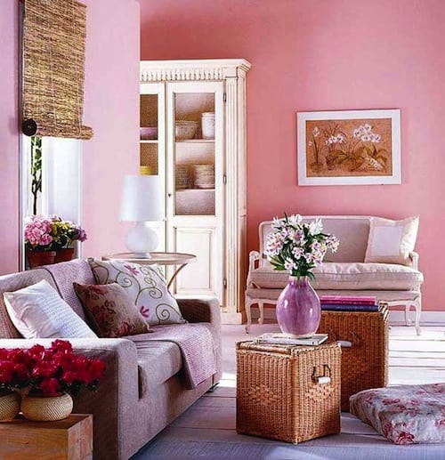 Altrosa Wandfarbe-wohnzimmer Design