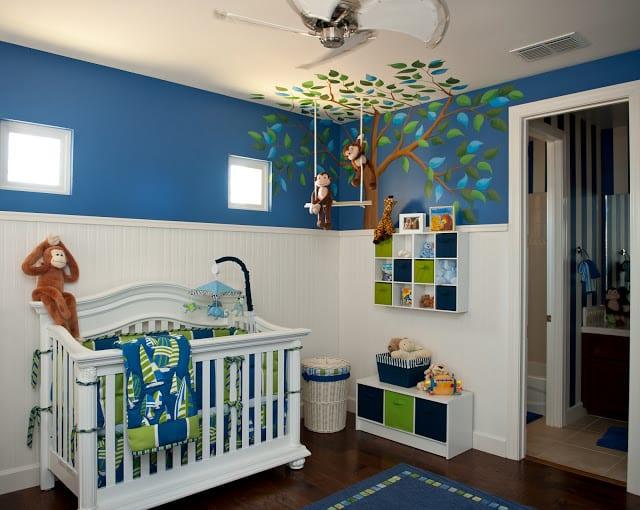 Babyzimmer Gestalten In Blau Und Weiss Freshouse