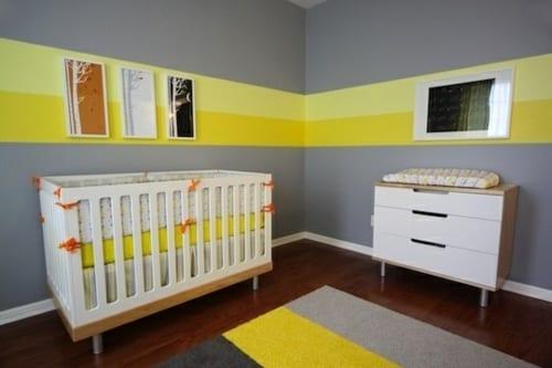 Babyzimmer Gestalten In Gelb Und Grau - Freshouse