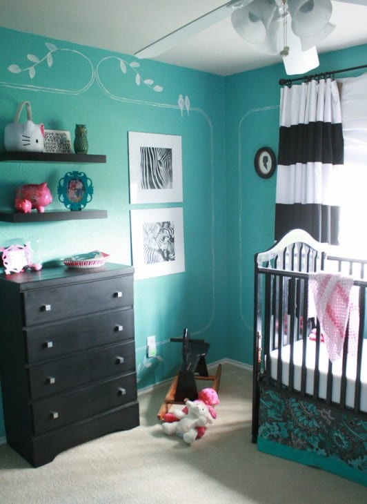 babyzimmer gestalten in schwarz und blau freshouse. Black Bedroom Furniture Sets. Home Design Ideas