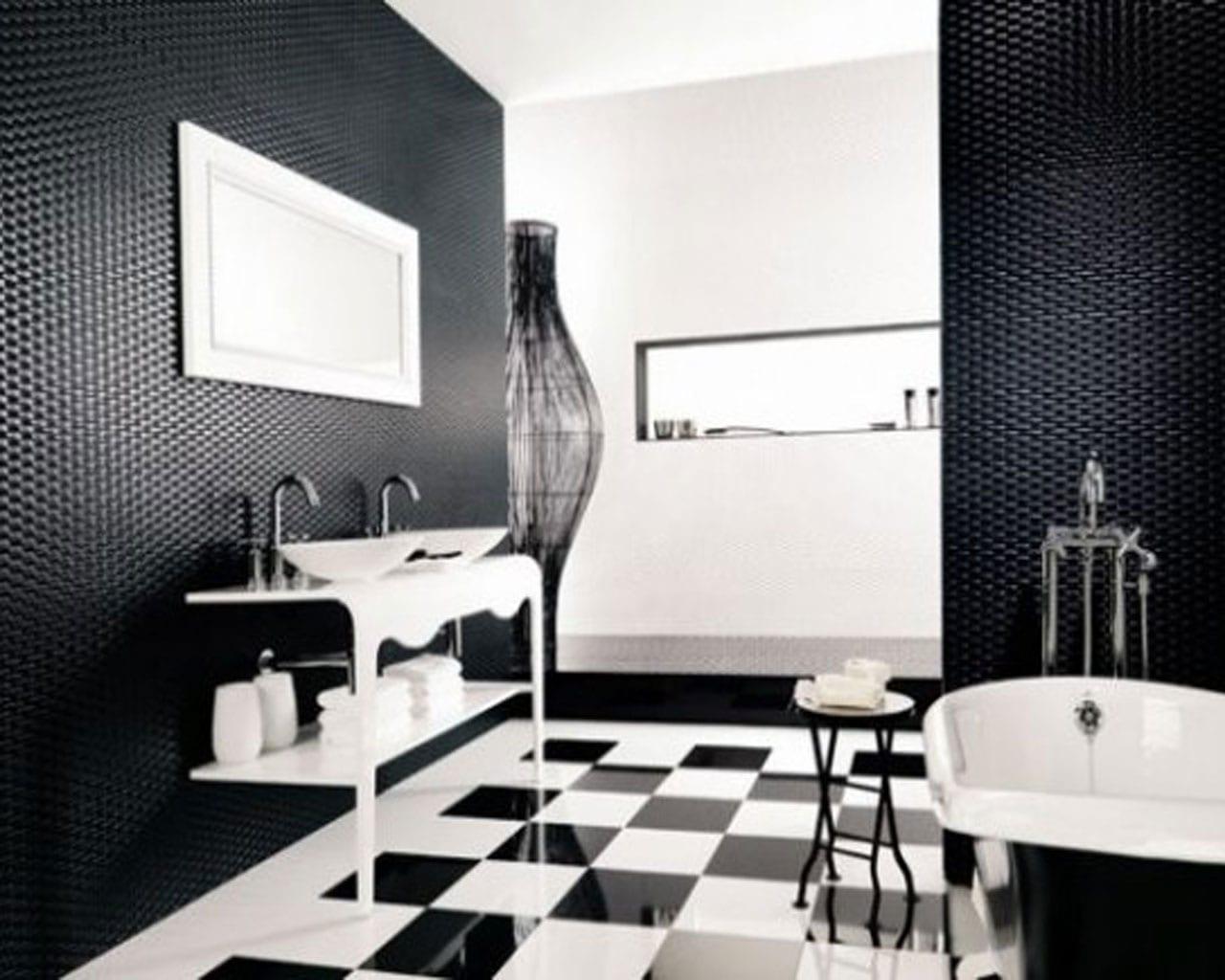 GroBartig Badezimmer Schwarz Weiß Modernes Badezimmer Gestalten