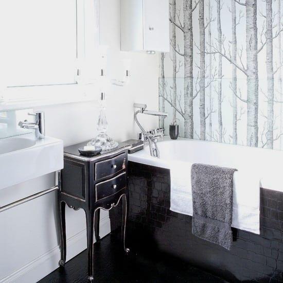 badezimmer schwarz weiß-schwarze badezimmer fliesen - fresHouse