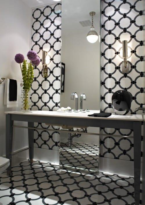 badezimmer schwarz weiß-wandgestaltung badezimmer - fresHouse