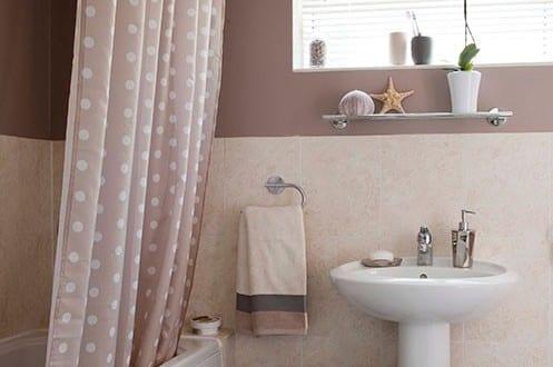badezimmer streichen-altrosa wandfarbe - fresHouse