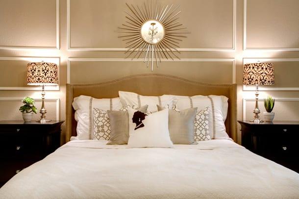 Beige wandfarbe f r luxus schlafzimmer freshouse - Wandfarbe fur schlafzimmer ...