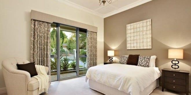 beige wandfarbe kleines schlafzimmer einrichten freshouse. Black Bedroom Furniture Sets. Home Design Ideas