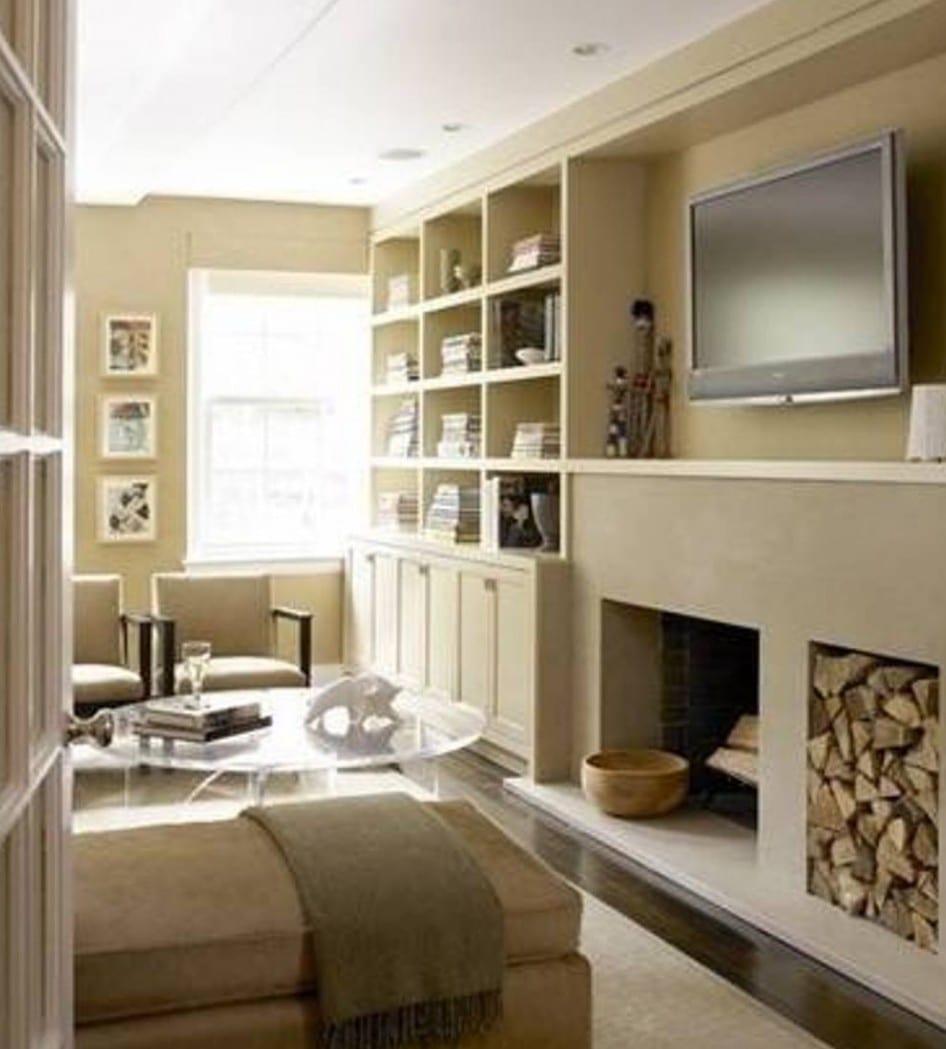 beige wandfarbe - kleines wohnyimmer einrichten - fresHouse