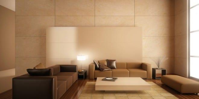 Beige wandfarbe minimalistisches wohnzimmer interior freshouse - Minimalistisches wohnzimmer ...