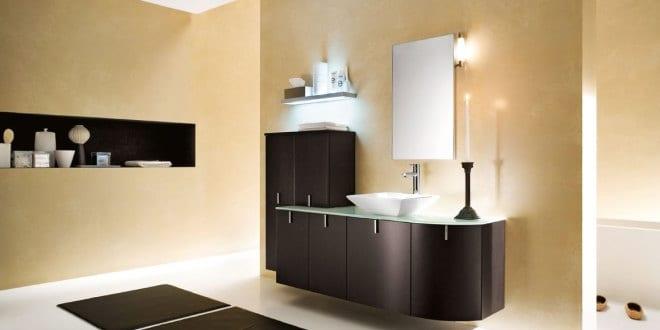 Beige Wandfarbe Modernes Badezimmer