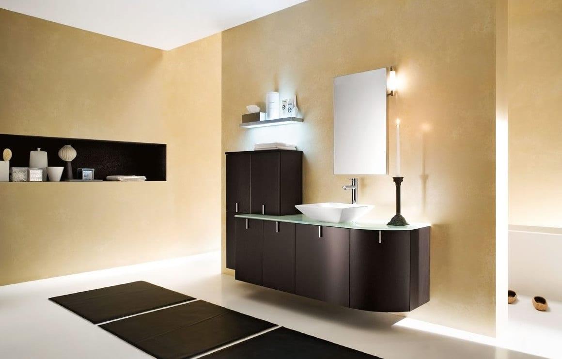 beige wandfarbe-modernes badezimmer - fresHouse