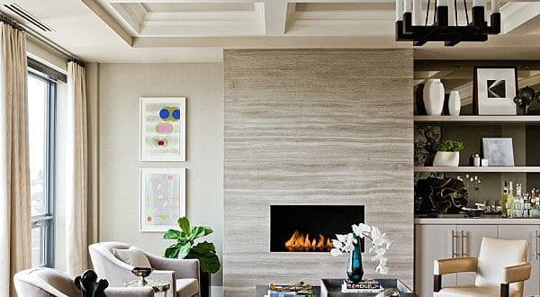 Beige Wandfarbe Modernes Wohnzimmer Michael J. Lee Photography