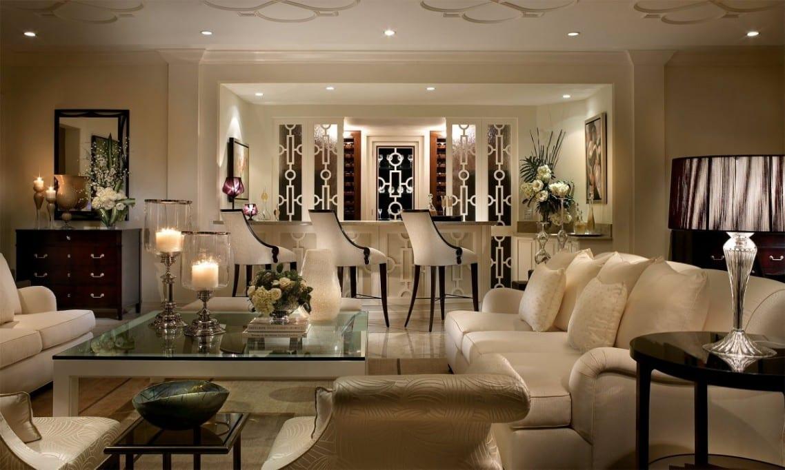Beige Wandfarbe-Modernes Wohnzimmer - Freshouse