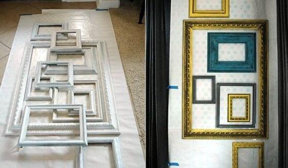 bilderrahmen dekorieren wanddeko selber machen freshouse. Black Bedroom Furniture Sets. Home Design Ideas