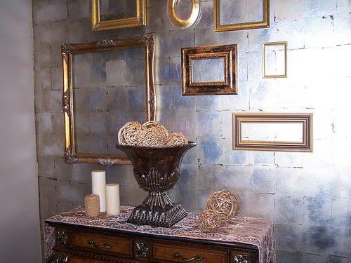 bilderrahmen dekorieren wandfarbe silber freshouse. Black Bedroom Furniture Sets. Home Design Ideas