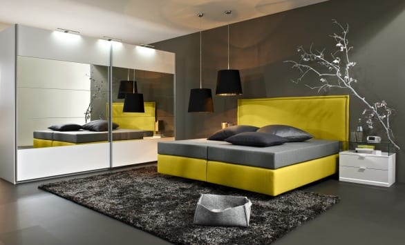 box spring bett von arte m freshouse. Black Bedroom Furniture Sets. Home Design Ideas