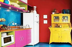 bunte küche wandfarbe