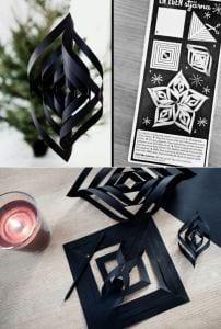 coole bastelideen aus schwarzem papier