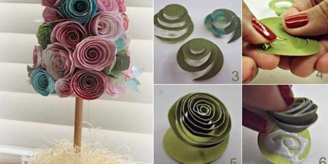 coole bastelideen-dekorativer baum deko