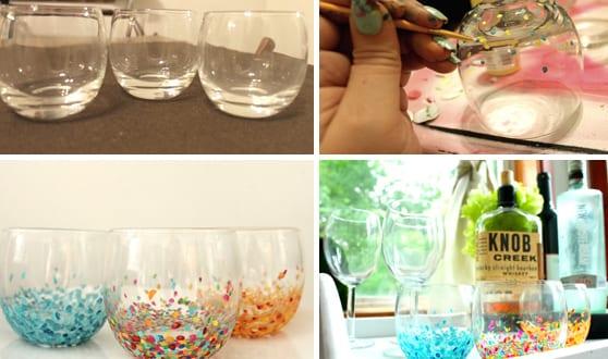 Coole Bastelideen Glas Bemalen Freshouse
