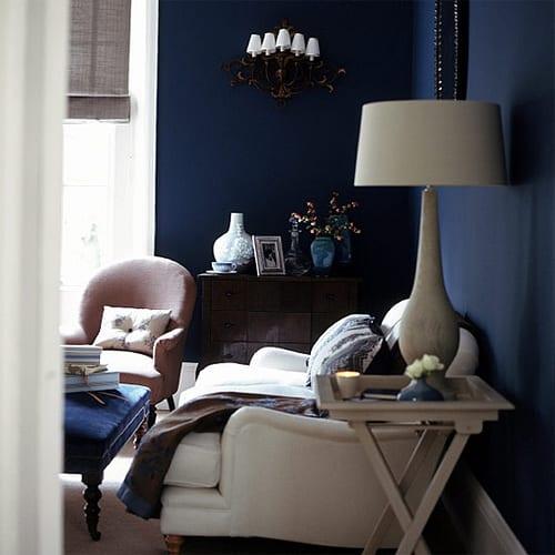 Dunkelblau wandfarbe wohnzimmer blau freshouse - Dunkelblau wandfarbe ...