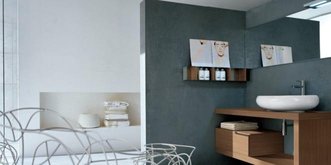 Außergewöhnlich Farbgestaltung Badezimmer Wandfarbe Grau