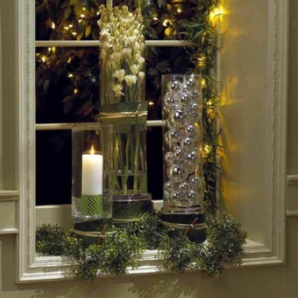 fensterbank dekorieren mit glasvasen freshouse. Black Bedroom Furniture Sets. Home Design Ideas