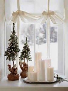 fensterbank dekorieren weihnachten