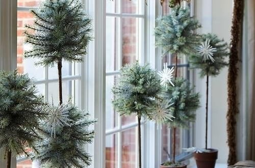 fensterbank dekorieren-winterdeko idee