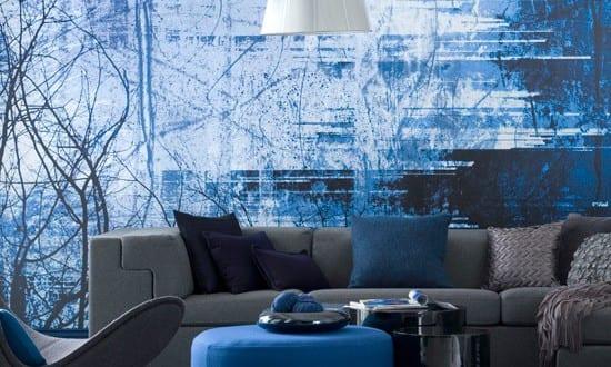 frische farbgestaltung-wohnzimmer gestalten in blau - fresHouse
