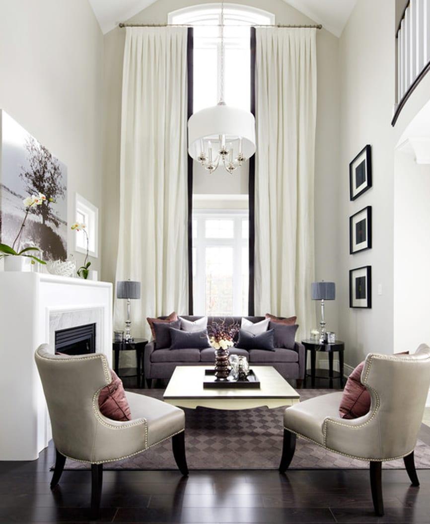 gardinen dekorationsideen für hohe raumhöhe - fresHouse