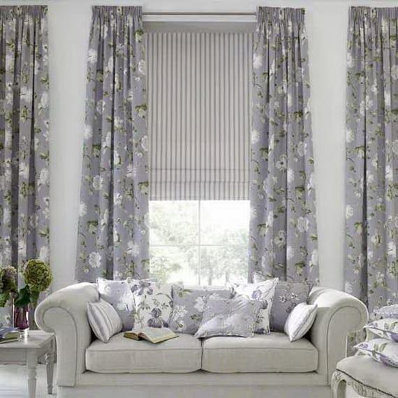gardinen dekorationsideen in grau und weiß - fresHouse