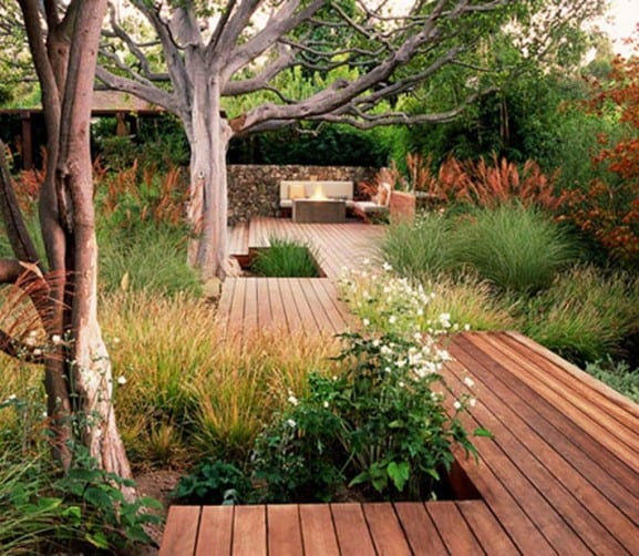 Garten Ideen Holzterrasse Im Garten Freshouse