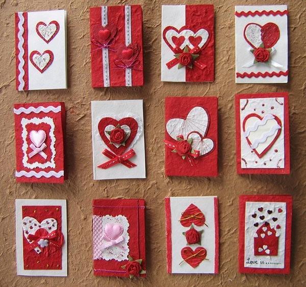 Handgemachte Valentinstag Karte