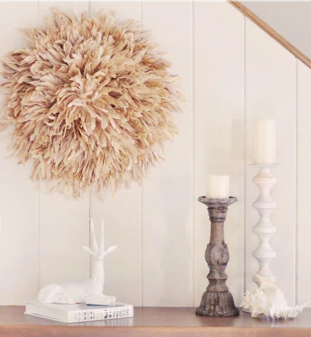 juju hut diy wandgesataltung mit federn freshouse. Black Bedroom Furniture Sets. Home Design Ideas