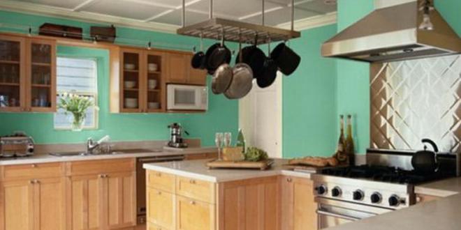 kche wandfarbe blau via home design plan - Kuche Wandfarbe Blau