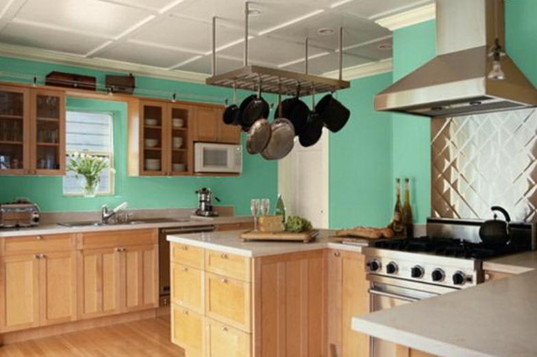 Küche Wandfarbe Blau Via Home Design Plan